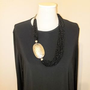 2 for 1 70s statement necklace & XL LBD tent dress